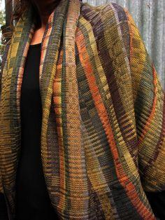 Jo Skinner - Silk Weaving Studio. Beautiful weaving with turned twill blocks.