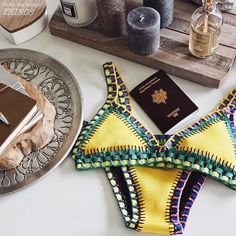 Vintage High Waist Floral Women's Bikini Set Strappy Push Up Bathing Suit Bikini Mode, The Bikini, Bikini Beach, Bikini Swimsuit, Summer Of Love, Summer Wear, Summer Time, Cute Bikinis, Bra Styles