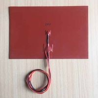 12V 200*300mm A4 size silicone heater pad