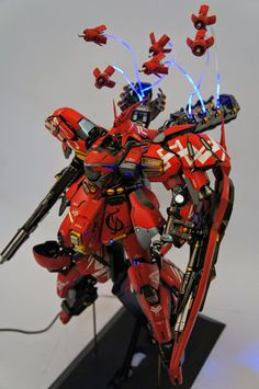 "GUNDAM GUY: [G-system] MSN-04i Sazabi Evolve 2.0 ""Blazin"" - Customized Build"