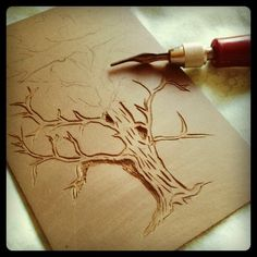 Lots of information about stamp carving with erasers, lino blocks, etc.