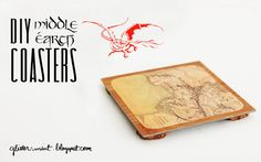 DIY Middle-Earth coasters Tolkien Books, Pretend Food, Book Lovers Gifts, Middle Earth, Felt Crafts, Beading Patterns, Coasters, Projects To Try, Arts And Crafts