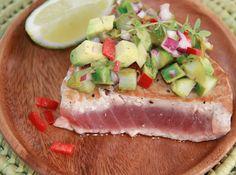 Seared Tuna with Asparagus Salsa