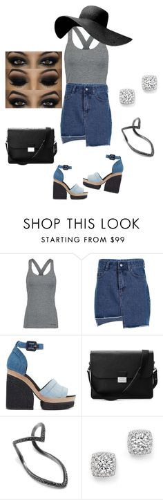"""""""DENIM"""" by breneamrkt ❤ liked on Polyvore featuring Ivy Park, Pierre Hardy, Aspinal of London, SeeMe, Bloomingdale's and Denimondenim"""