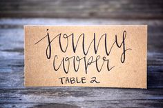 Wedding Place Cards Tent Fold Escort Card Black by FullyMade