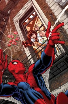 #Spiderman #Fan #Art. (AMAZING SPIDER-MAN: RENEW YOUR VOWS #5 Variant Cover) By: Nick Bradshaw. (THE * 5 * STÅR * ÅWARD * OF: * AW YEAH, IT'S MAJOR ÅWESOMENESS!!!™)[THANK Ü 4 PINNING!!!<·><]<©>ÅÅÅ+(OB4E)