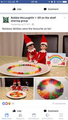 Skittles rainbow- just add water