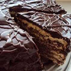 """Cake on kefir """"Black Prince"""" Ingredients: For the dough: ● 1 egg, ● 1 cup sugar, ● tea spoon of cocoa, ● 1 cup of yogurt, ● 1 teaspoon baking Food Cakes, Kefir, Cake Recipes, Dessert Recipes, Quick Cake, Good Food, Yummy Food, Gourmet Cooking, Easy Cake Decorating"""
