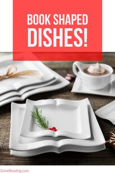 If you love to read then you'll LOVE this lovely collection of plates, platters and teacup sets designed just for avid readers like you. Kitchen Words, Silhouette Curio, Gifts For Readers, Good Housekeeping, Book Lovers Gifts, Usa Today, Book Stuff, Pie Dish, White Porcelain