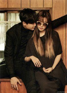 Lee Jong Suk and Han Hyo Joo