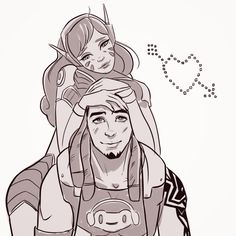 NoOneLikesAquaMan — More Dva and Lucio cuteness, Worked into the...