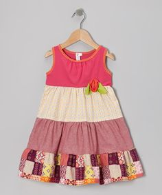 Take a look at this Red Patchwork Tiered Dress - Toddler & Girls on zulily today!