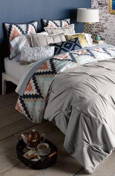 Blissliving Home 'Harper - Grey' Cotton Sateen Duvet Cover & Shams