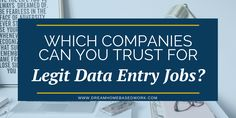 Looking for legitimate online data entry jobs? This post covers 10 places that offer work from home online data entry jobs for beginners and pros. Online Data Entry Jobs, Virtual Assistant Jobs, Extra Money, Extra Cash, Job Interview Tips, Core Curriculum, Something To Remember, Job Work, Work From Home Moms
