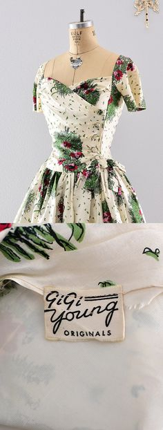 Need A Belmont Stakes Dress? - 1950s Silk Garden Dress