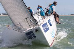 The J/111 yacht 'Toe in the Water' racing during Cowes Week 2014