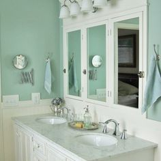 We here at This Old House happen to love blue bathrooms. And we do see a lot of them; it's probably the most common bathroom color out there. So if you're thinking of going azure, indigo, sapphire or robin's egg in your favorite washroom, we've picked out some of our favorites to give you inspiration.