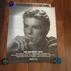 David Bowie Changesone RCA Records 1976 Original Rare Vintage Music Poster by RockPostersTreasures on Etsy