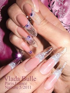 &&@&& Long Nails, My Nails, Younique Presenter, Flower Nails, Gorgeous Nails, Hair Beauty, Inspiration, Beautiful, Magic