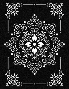 Stencil Templates, Stencil Patterns, Stencil Designs, Mandala Stencils, Stencil Painting, Mandala Art, Stenciling, Motifs Islamiques, Decorative Panels