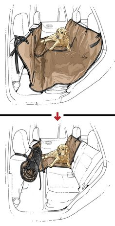 Scout's Convertible Seat Saver protects your back sets from muddy pets and messy kids – and gives tidier passengers an unsullied place to sit. Just buckle it to front and backseat headrests or baby seat latches to create a water and stain-resistant shield in the backseat. When a human wants to occupy the space, just unzip the center zipper, roll up one side of the Seat Saver, and secure it behind the driver's seat.