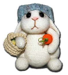 Hare - free crochet pattern by Zhaya Designs. Crochet Animals, Crochet Toys, Free Crochet, Crochet Things, Loom Knitting, Knitting Patterns, Crochet Patterns, Holiday Crochet, Easter Crochet