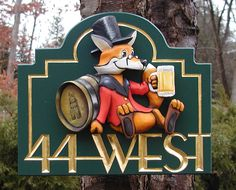 The text and border groove on this sign are hand carved and gilded with gold leaf. Cabin Signs, Pub Signs, Shop Signs, Carved Wood Signs, Wooden Signs, Property Signs, Storefront Signs, Sign Board Design, Vintage Advertising Signs