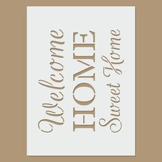 Trendy home sweet hom stencil patterns Stencil Patterns Letters, Letter Stencils, Letter Patterns, Stencil Painting, Body Painting, Stenciling, Coffee Artwork, Diy And Crafts, Arts And Crafts