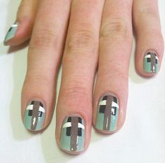 An art deco nail art tutorial inspired by the art deco prints seen at Carolina Herrera Spring 2012, with easy step-by-step photo instructions.
