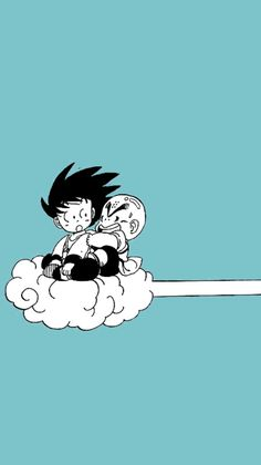 Kid Goku and Krillin on Nimbus- Dragon Ball Dragon Ball Gt, Kid Goku, Wallpaper Do Goku, Dragon Ball Z Iphone Wallpaper, Dragonball Wallpaper, Dbz Wallpapers, Wallpaper Backgrounds, Cute Dragons, Image Manga