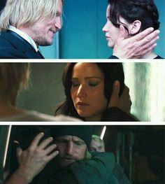 All the times Haymitch comforted Katniss. They rarely got along, perhaps because they were too alike, and too hard, but that also meant they understood each other in a way no one else could.