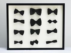I would sooo put several vintage bow ties in a shadow box and hang it in a beautiful walk in closet or a little boy's room! Pink Wallpaper, Shadow Box, Creations, Artsy, Fancy, Mens Fashion, Black And White, Cool Stuff, My Style