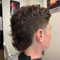 Mullet Haircut, Mohawk Mullet, Mullet Hairstyle, Style Hairstyle, Fade Haircut, Undercut Pompadour, Undercut Hairstyles, Boy Hairstyles, Curly Hair Men