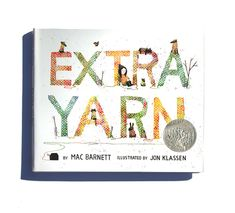 Extra Yarn, a children's picture book by Mac Barnett and Jon Klassen. Looks like it's about yarn bombing! Jon Klassen, Kids Story Books, Stories For Kids, Kid Books, Baby Books, Guerilla Knitting, Der Plan, Yarn Bombing, Books