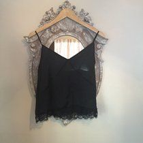 Zara lace cami top, came with another top attached but have since sold that! Size 6-8 #black #lace #zara #cami