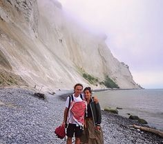 Denmark the white cliffs in Mons... Aurora was 2 months old and was her first travel (in the baby bag)!  by globetrottingkids