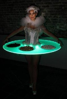 Swan Lake Ballerinas Strolling Tables - Hire & Book For Parties & Events - Classique