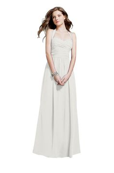 Alfred Angelo 7236 Bridesmaid Dress in White in Chiffon