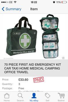 First aid 1 Kit Cars, First Aid, Taxi, Lunch Box, First Aid Kid, Bento Box