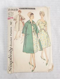 Early 60s Vintage Plus Size Dress and Coat by MyVintageHatShop