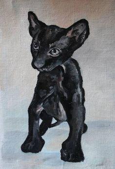 Art, oilpainting animal blackcat sphinx #art #oilpainting #oil #sketch #print #animal #nature #blackcat #cat #kitten #sphinx #кот #картина маслом #картина #масло #черныйкот #сфинкс #принт #интерьер #принт #животное #природа #котенок #масло