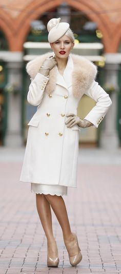Gorgeous outfit for a winter raceday