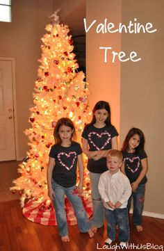 Valentine Tree--A family tradition. Hmmm.. and I already have a little pink tree. This could work!