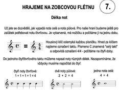 Škola hry na zobcovou flétnu – LEKCE SEDMÁ Math Equations