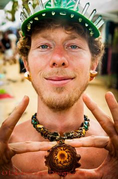 Carl Weiseth of #ThirdEyePinecones ~ #Vendor at the 2013 #BhaktiFest ~ #LakshmiGraceDesigns #Kirtan #Bhav #Bhakti  #Photography #Art #Jewelry #Cool #Fun