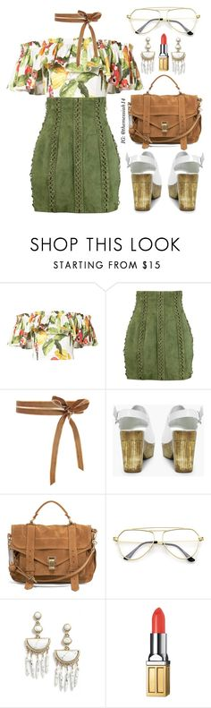 """""""Spring Mules"""" by the-messiah ❤ liked on Polyvore featuring Isolda, Balmain, Boohoo, Proenza Schouler, BaubleBar and Elizabeth Arden"""