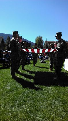 Flag Folding Ceremony at Grand Lake's Annual Constitution Week Celebration