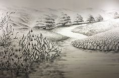"WOW. Judith Ann Braun's ""Fingerings"" series, a collection of charcoal dust landscapes and abstracts ""painted"" using not brushes but her fingertips."