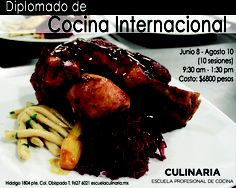 Diplomado de Cocina Internacional / Inicia Junio 8 / Culinaria #mty