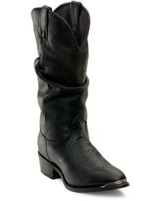 """next time i need a pair of black boots!  Durango Women's 11"""" Western Slouch Boots - Oiled Black"""